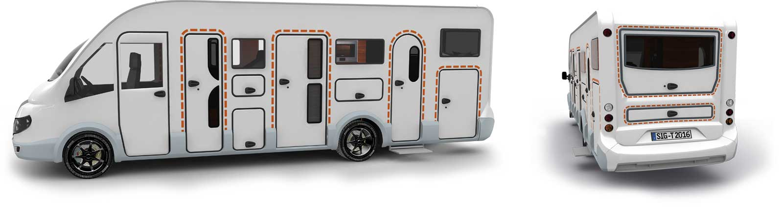 Satisfied tegos customers with Karmann Mobil caravans and RVs